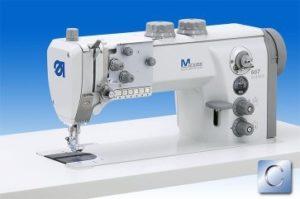 667-180312 Maszyna do szycia – Stębnówka z transportem potrójnym i rozszerzoną automatyką